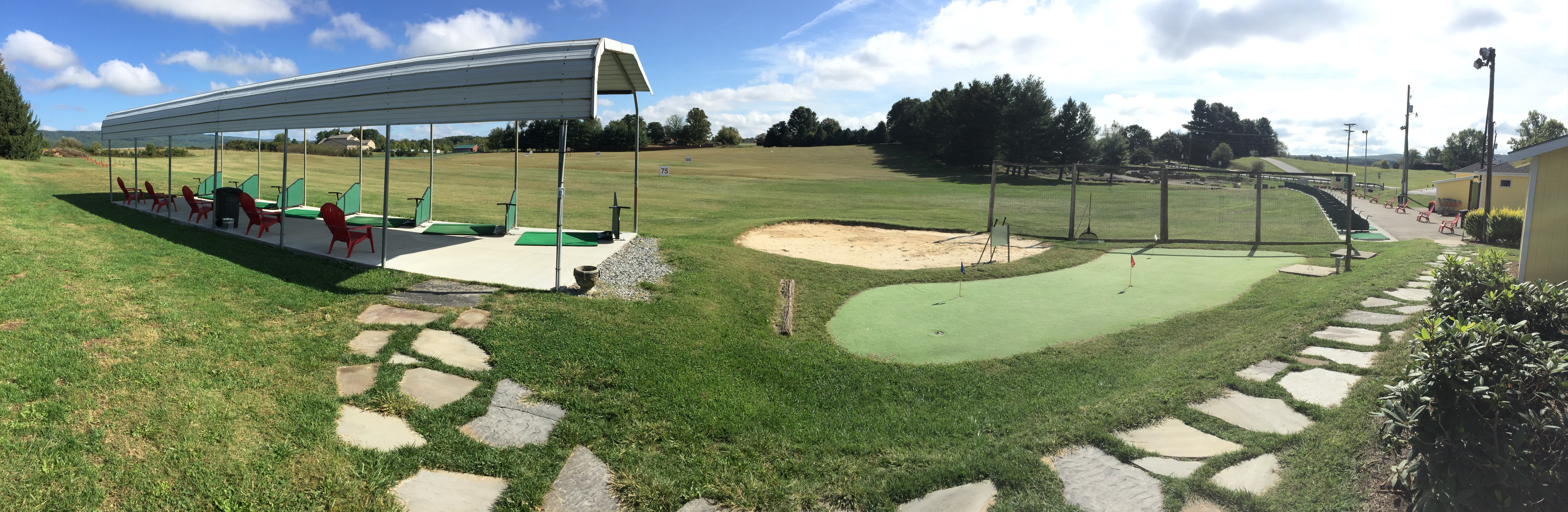 Practice Green and Bunker